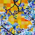 Hanami # 28 - 2009 - Acrylic on paper stuck on canvas - 100 X 100 cm
