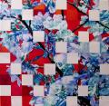 Hanami # 40 - 2009 - Acrylic on paper stuck on canvas -