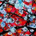 Hanami # 67 - 2010 - Acrylic on paper stuck on canvas - 60 X 60 cm