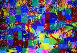 Grande Partition - 2003/2004 - Technique mixte sur papier marouflé sur toile - 112 X 161 cm