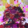 Partition # 55 - 2006 - Technique mixte sur papier marouflé sur toile - 50 X 50 cm